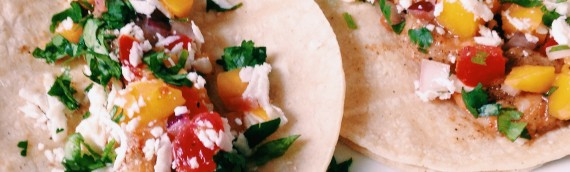 Summertime Shrimp Tacos + Mango Salsa