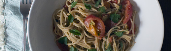 Summer Spaghetti with Roasted Tomatoes